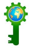 ключ глобуса Стоковое фото RF