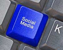 Ключ для социальных средств массовой информации Стоковые Изображения RF