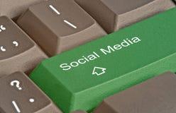 Ключ для социальных средств массовой информации Стоковое Фото