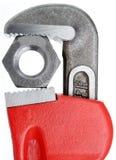 ключ для труб гайки Стоковые Фото