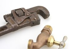 ключ для труб шланга bib Стоковая Фотография RF