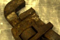 ключ для труб Стоковая Фотография
