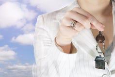 ключ дома к Стоковая Фотография
