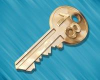 ключ дома к Стоковое Изображение