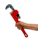 ключ женщины трубы удерживания Стоковые Фото