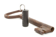ключ замока к Стоковые Фотографии RF