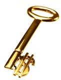 ключ золота доллара стоковые фотографии rf