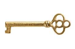 ключ золота Стоковые Изображения