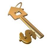 ключ золота стоковое фото