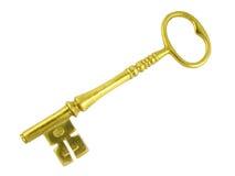 ключ золота Стоковое Изображение