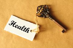 ключ здоровья к Стоковая Фотография