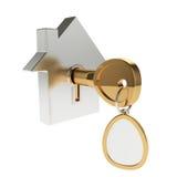 ключ иконы дома Стоковое фото RF