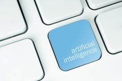 Ключ искусственного интеллекта стоковое изображение rf