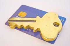 ключ кредита к Стоковая Фотография
