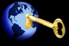 ключ к миру Стоковое Изображение