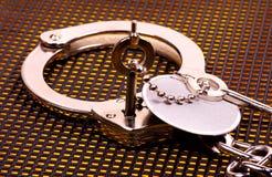 ключ наручников Стоковое Изображение