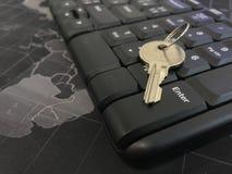 Ключ на тетради стоковое фото rf