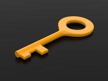 Ключ на черной предпосылке Стоковое Изображение RF