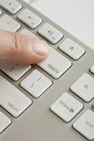 ключ перста delete стоковое изображение