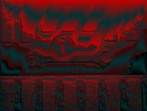 Ключ помощи техника красный малиновый Стоковые Изображения