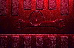 Ключ помощи техника красный малиновый Стоковое Изображение