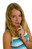 ключ руки девушки стоковая фотография rf