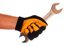 ключ руки перчатки Стоковая Фотография