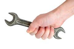 ключ руки старый используемый Стоковое Фото