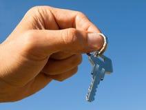ключ руки стоковое изображение rf