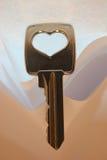ключ сердца к Стоковая Фотография