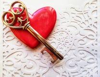 ключ сердца мой к стоковая фотография