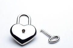 ключ сердца Стоковое Фото