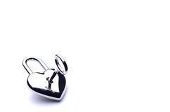 ключ сердца Стоковые Фотографии RF