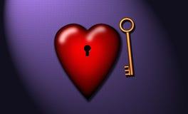 ключ сердца мой к Стоковое Фото