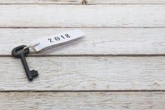 Ключ с биркой 2018 Стоковые Фотографии RF