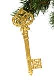 ключ украшения рождества праздничный Стоковая Фотография