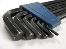 ключ шестиугольника установленный Стоковая Фотография RF
