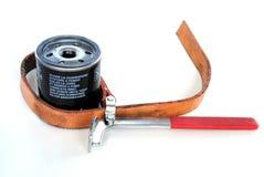 ключ экстренныйого выпуска масла фильтра Стоковое фото RF