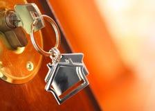 ключ двери Стоковая Фотография