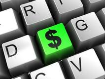 ключ доллара Стоковые Фотографии RF