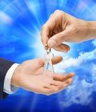 ключ дома владельца дома финансов Стоковая Фотография RF