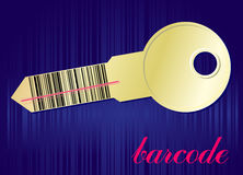 Ключ Barcode иллюстрация штока