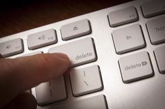 ключ delete Стоковая Фотография