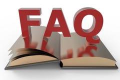 Книга вопросы и ответы Стоковое Изображение