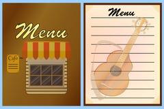 Книга для меню ресторанов вектор Стоковое фото RF