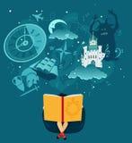 Книга детей иллюстрация штока