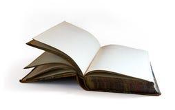 книга изолировала старую открытую белизну Стоковые Фотографии RF
