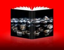 Книга изолированного обручального кольца Стоковое Фото
