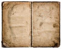 книга изолировала старую белизну grungy несенная бумажная текстура Стоковое Изображение