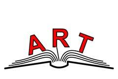 Книга искусства Стоковая Фотография